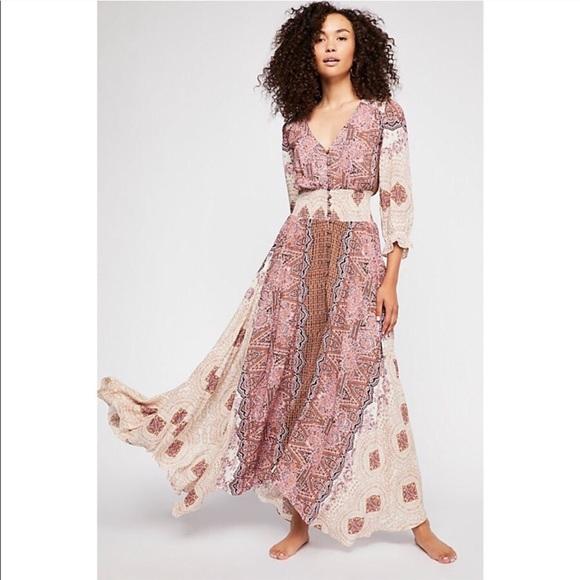 c957dc81eab NWT Free people Mexicali rose maxi dress tea combo